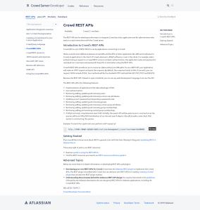 Atlassian Crowd REST APIs developer's page